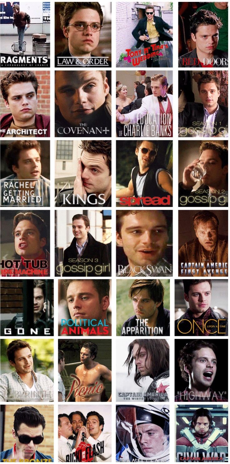 Films and tv shows Sebastian Stan has been in. I have seen 4 of these, they were all very good!