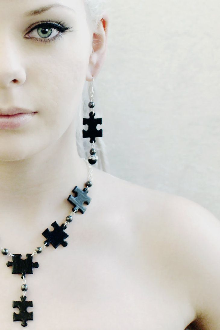 Puzzle jewelry by ~Minnu on deviantART