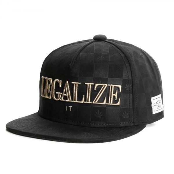 Snapback Cayler & Sons Legalize it Noire #bonplan #promo #snapback #mode #streetwear #skate sur votre e-shop @hatshowroom #startup #follome