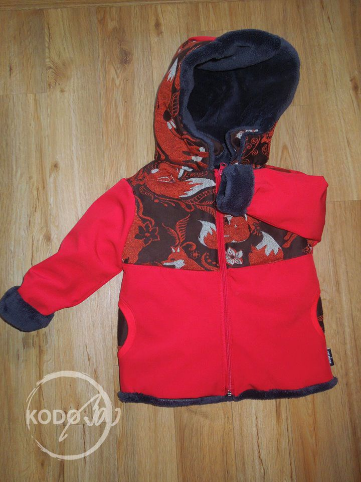 Wrap Scrap Coat with Natibaby Foxes Brun by KodoBa