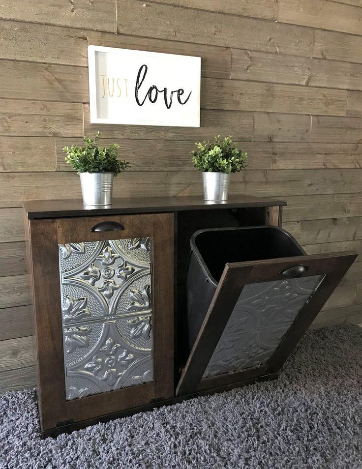Double tilt out trash bin in Espresso stain (Despressp