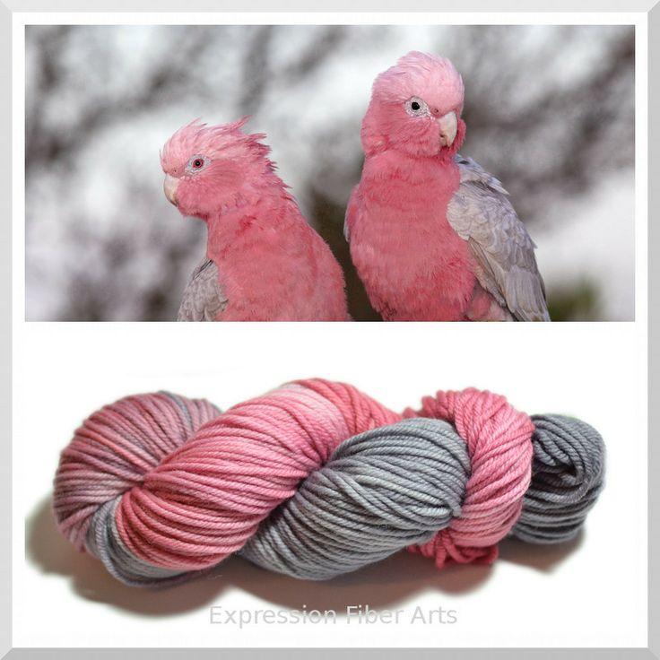 Expression Fiber Arts - GALAH - Hand-Painted Superwash Merino Wool Sock Yarn - (http://www.expressionfiberarts.com/products/galah-hand-painted-superwash-merino-wool-sock-yarn-92-g-340-yd.html)