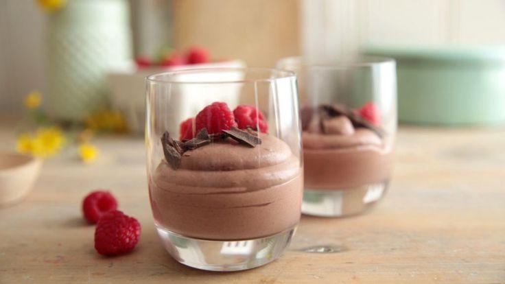 Fløyelsmyk sjokolademousse