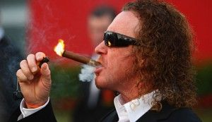 Miguel Angel Jimenez Was Walking Around The Open Championship With A Cigar And Bottle Of Wine