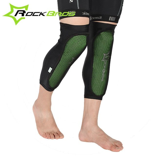 Rockbros Green Knee Protector Bicycle Knee Pads Outdoor Sport Cycling Knee Caps Mountain Bike Anticollision Calf Pads Review Sports Cycle Mtb Bike Mountain Cycling Outfit