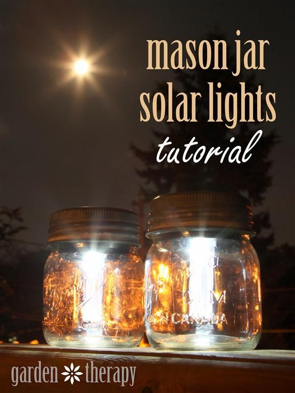 How To Make Mason Jar Solar Lights - Simple DIY Tutorial