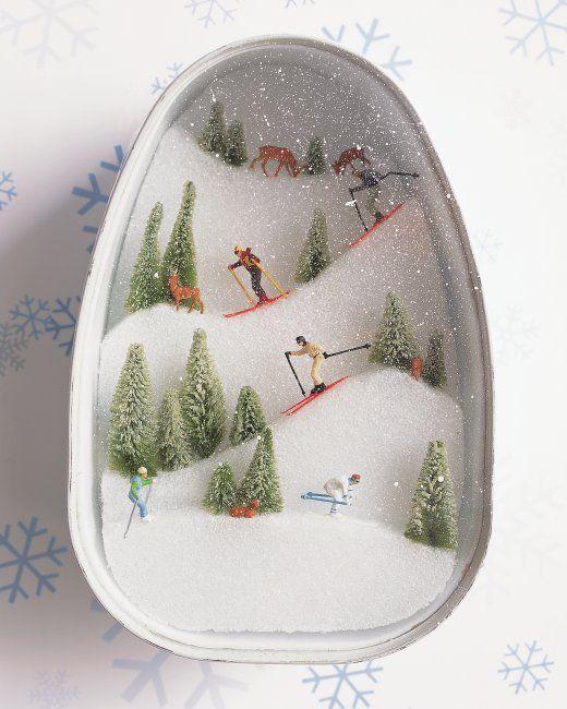 Ski Diorama | Martha Stewart