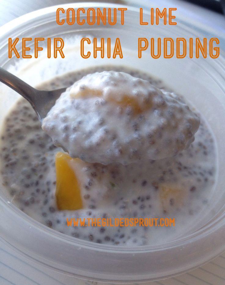 Coconut Lime Kefir Chia Pudding