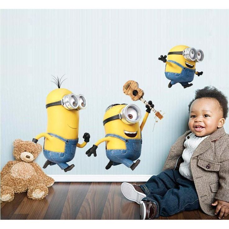 New Cartoon Despicable Me Minions Wall Sticker for Bedroom Decal Decoration home Children Wall Sticker Vinyl Sticker Living Room