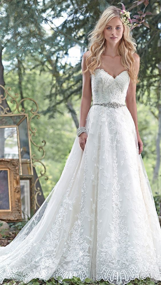 Best Hairstyle For V Neck Wedding Dress : Best 25 maggie sottero wedding dresses ideas on pinterest