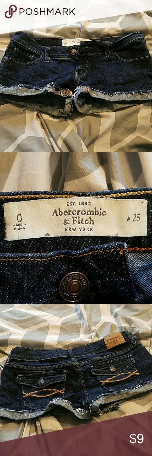 Abercrombie and fitch shorts Abercrombie and fitch shorts size 0 Abercrombie & Fitch Shorts Jean Shorts