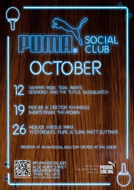 Puma Social Club is back in Jozi! :)