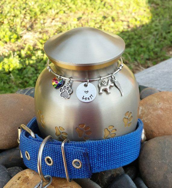 Dog Urn Keepsake Pet Urn Memorial Pet by SecretHillStudio