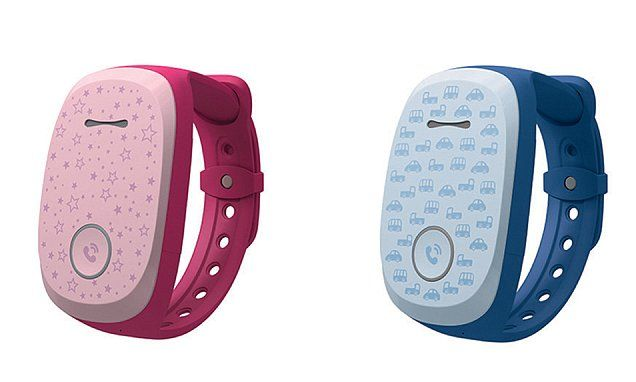 LG's GizmoPal (pictured) has launched in the US and allows children wearing the band to make or receive calls, while GPS allows their parents to track their whereabouts, using a smartphone app.