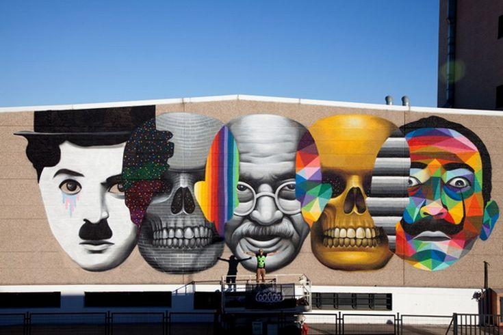 Colorful Wall Graffiti by Oscar Okuda San Miguel.