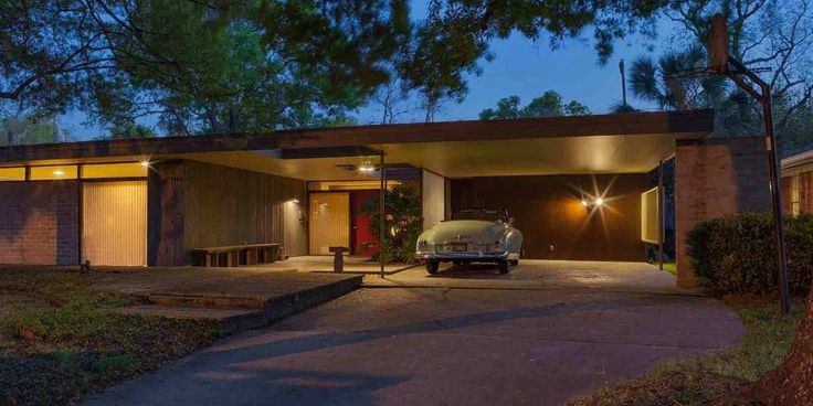 914 best mid century homes images on pinterest for Mid century modern architects houston