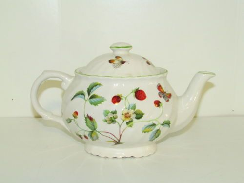 Mother's Teapot:  Vintage Old Foley James Kent China Strawberry Butterfly Teapot w Lid England | eBay