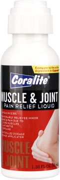 Coralite® Muscle and Joint Pain Relief Liquid is used to ease tension and minor pain associated with: backaches, arthritis, strains, bruises, or sprains. Our unique sponge tip applicator makes applying product to the site of pain mess free; allowing the product to penetrate deeply to help ease your pain with one controlled application. This product is odor free and easy to use.