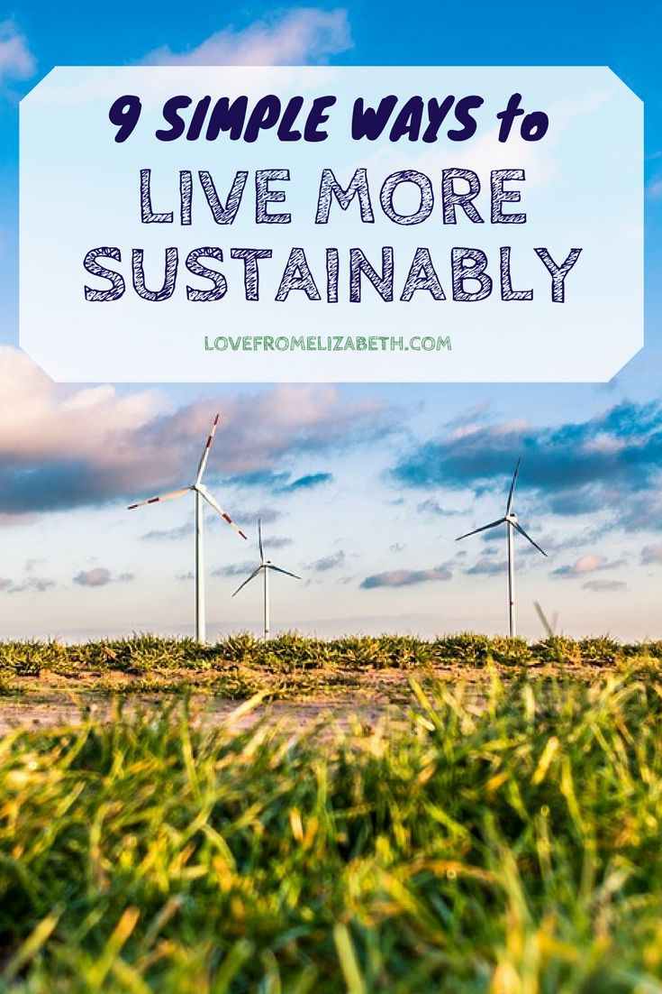 9 Simple Ways To Live More Sustainably | From bamboo toothbrushing to buying local, here are 9 simple ways to live more sustainably.
