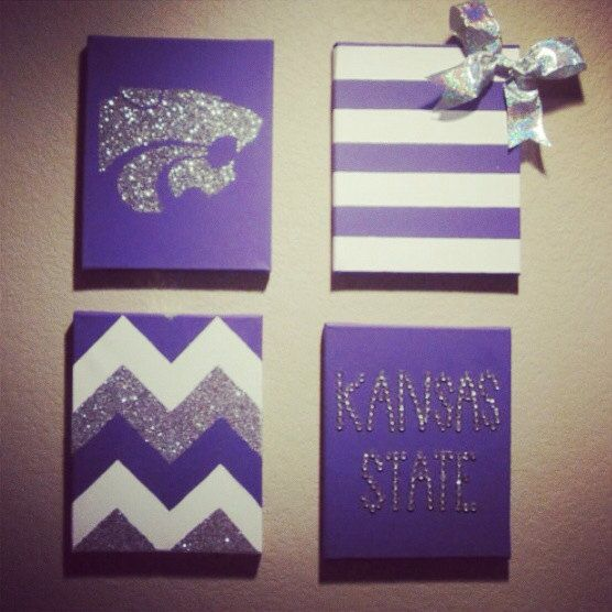 University Wall Decor Bundle 4 by TexasClass on Etsy, $25.00:   Would be A LOT better if it was Red and Blue for Jayhawks or Maroon and White for Oklahoma :)