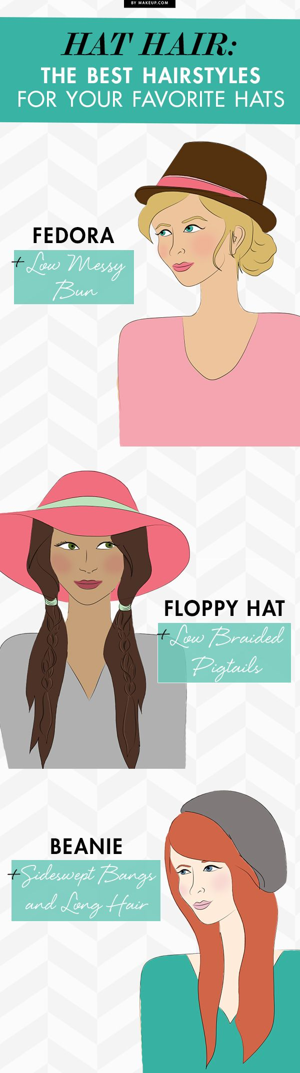 I always love hats until I see them on my head. Maybe this will help. Hat Hair: Favorite Hairstyles for Our Favorite Hats