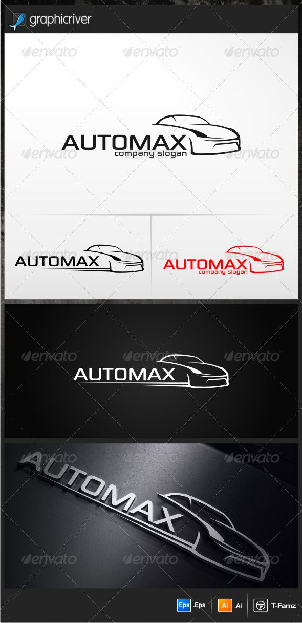 Automax Logo Templates — Vector EPS #dealer #sport • Available here → https://graphicriver.net/item/automax-logo-templates/4929258?ref=pxcr
