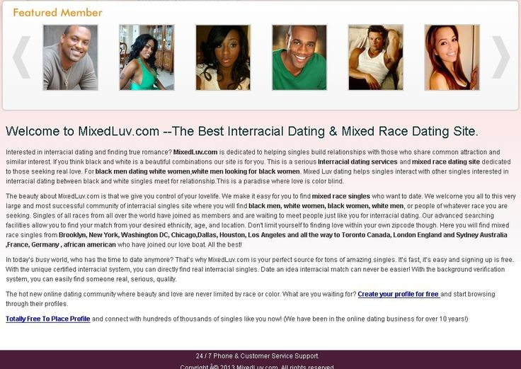 Welcome to MixedLuv.com --The Best Interracial Dating & Mixed Race Dating  Site