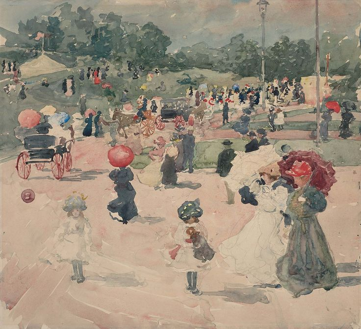 Carnival, Franklin Park, Boston, 1897. By Maurice Brazil Prendergast. Museum of Fine Arts, Boston