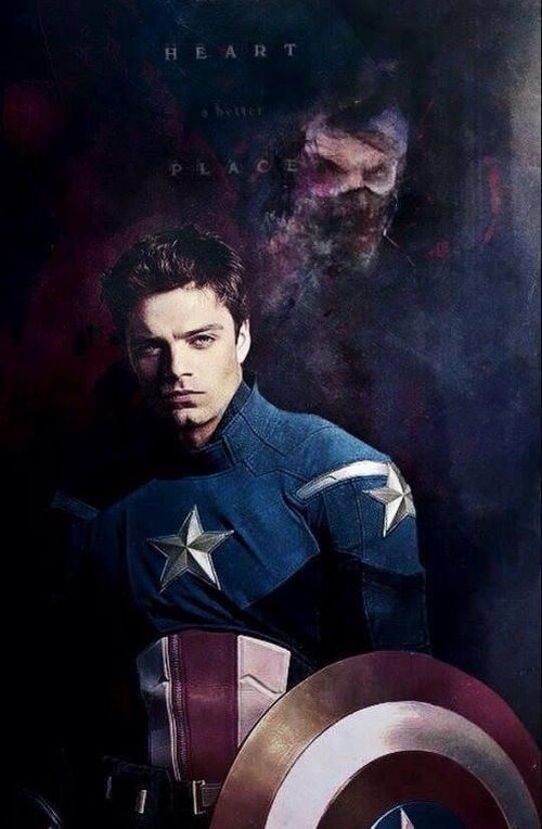 Bucky does take over as Captain America in the comics...I hope that doesn't happen in the movies, though, I simply love Chris Evans as Cap too much. I prefer an epic team up with both!
