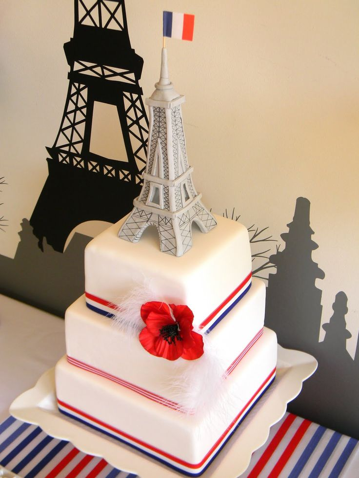 this would be a great cake for my Bastille Day birthday