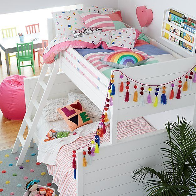 Uptown Twin-Over-Full Bunk Bed (White) | The Land of Nod