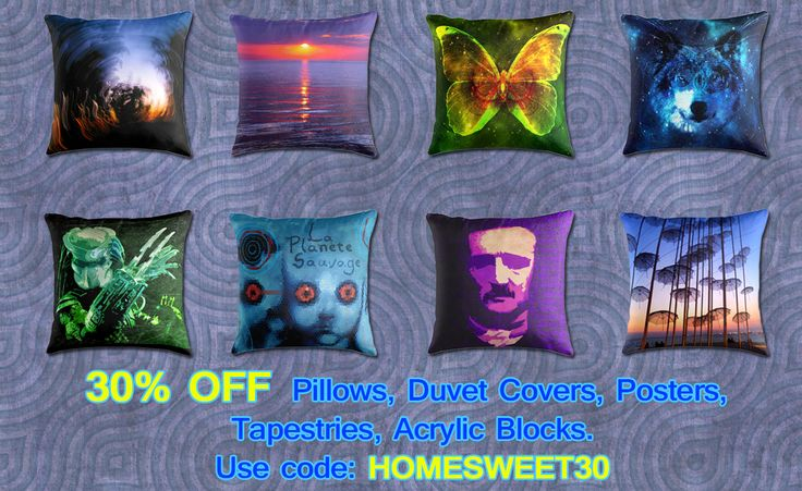 30% OFF Pillows. Use code: HOMESWEET30. #discount #sales #save #gifts #pillows #homedecor #homegifts #gifts #redbubble #poegifts #summer #summerpillow #sea #butterflypillow #wolf #predatormovie #moviegifts #cinemagifts #modernpillows #modernhome
