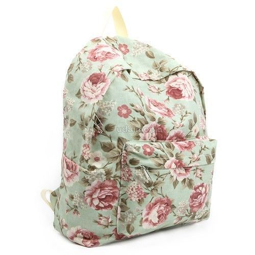 details about floral bags backpacks bookbags for women girls flower design backpack school bag