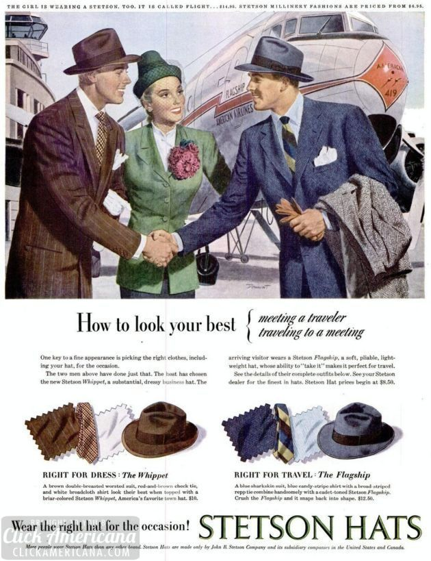 Stetson hats for men 1947