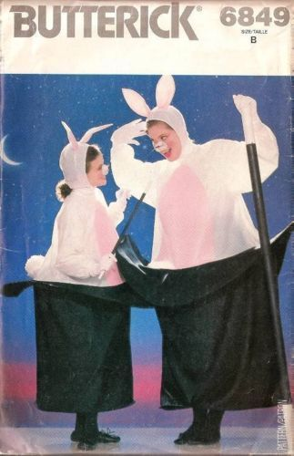 BUTTERICK Adults Unisex RABBIT IN A HAT Magician Costume Pattern 6849 UC & 32 best Cool stuff images on Pinterest | Child fashion Kid styles ...