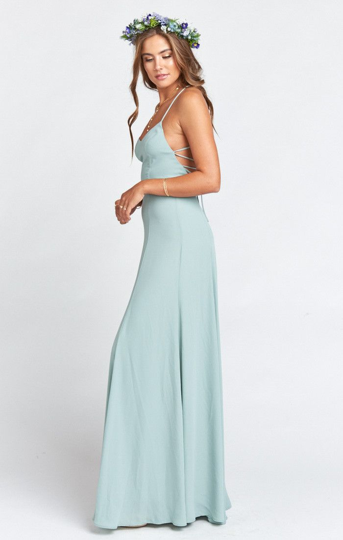 2c31dd121cd7d The Godshaw can't enter a room without demanding attention, and she  deserves it. This elegant gown has an open strappy back that ties at the  bottom to ...