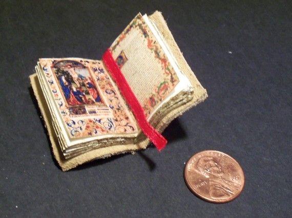 Miniature Illuminated Manuscript by LDelaney on Etsy, $12.00