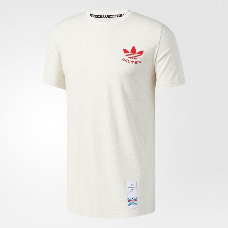 adidas Men All Timers Tee Pin Trefoil T-Shirts White Casual Skateboarding  CF0993