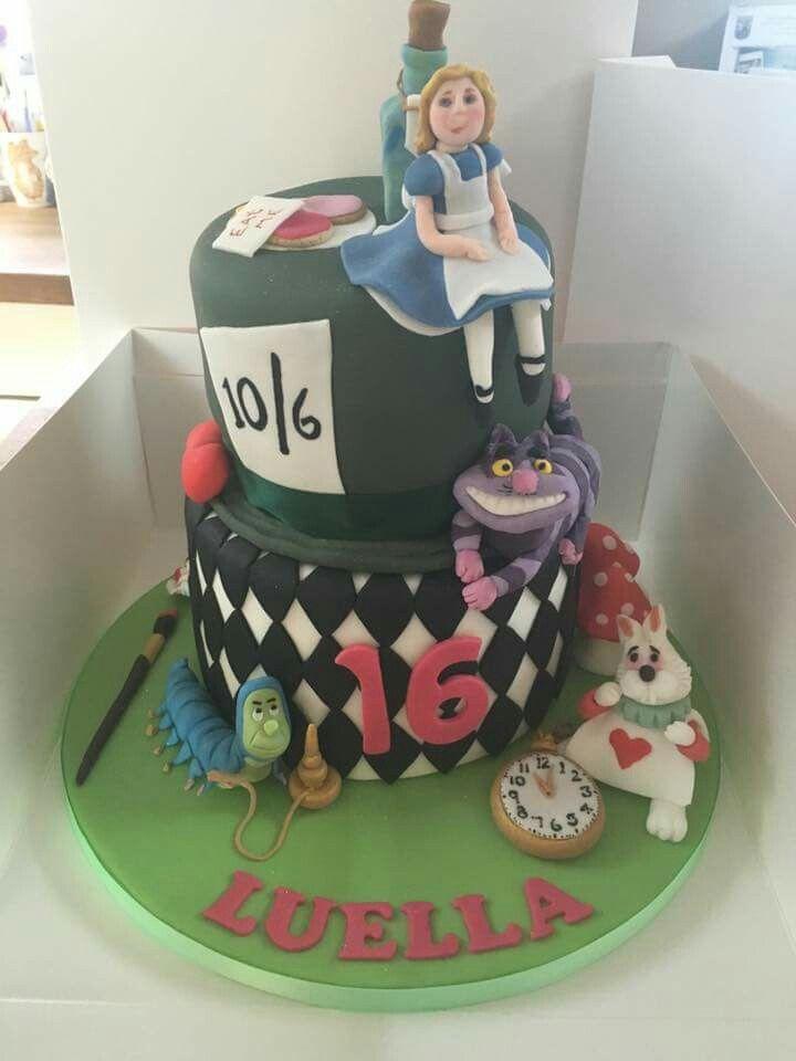 Alice Wonderland Cakes Food Cakes Scan Bran