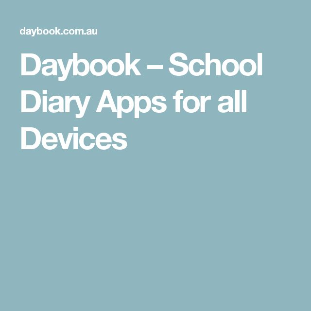 Daybook – School Diary Apps for all Devices