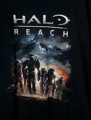 Xbox 360 Gaming Halo Reach T-Shirt  Size XL Promotional Shirt Black Tee