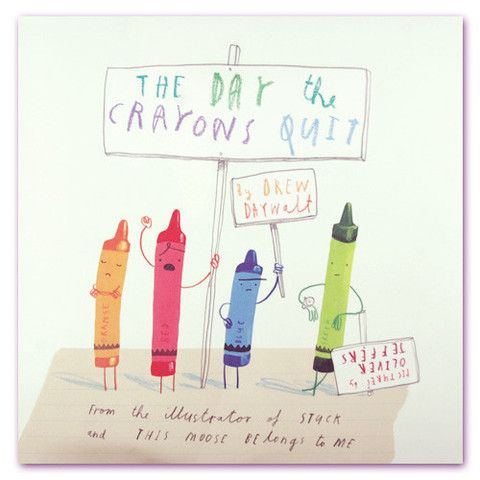 The Day the Crayons Quit - mini mioche - organic infant clothing and kids clothes - made in Canada