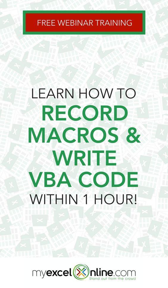 Free Excel Macros & VBA Webinar Training | Excel for