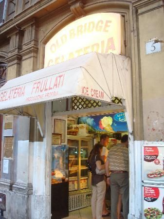 Old Bridge, the best gelato in all of Italy, I kid you not