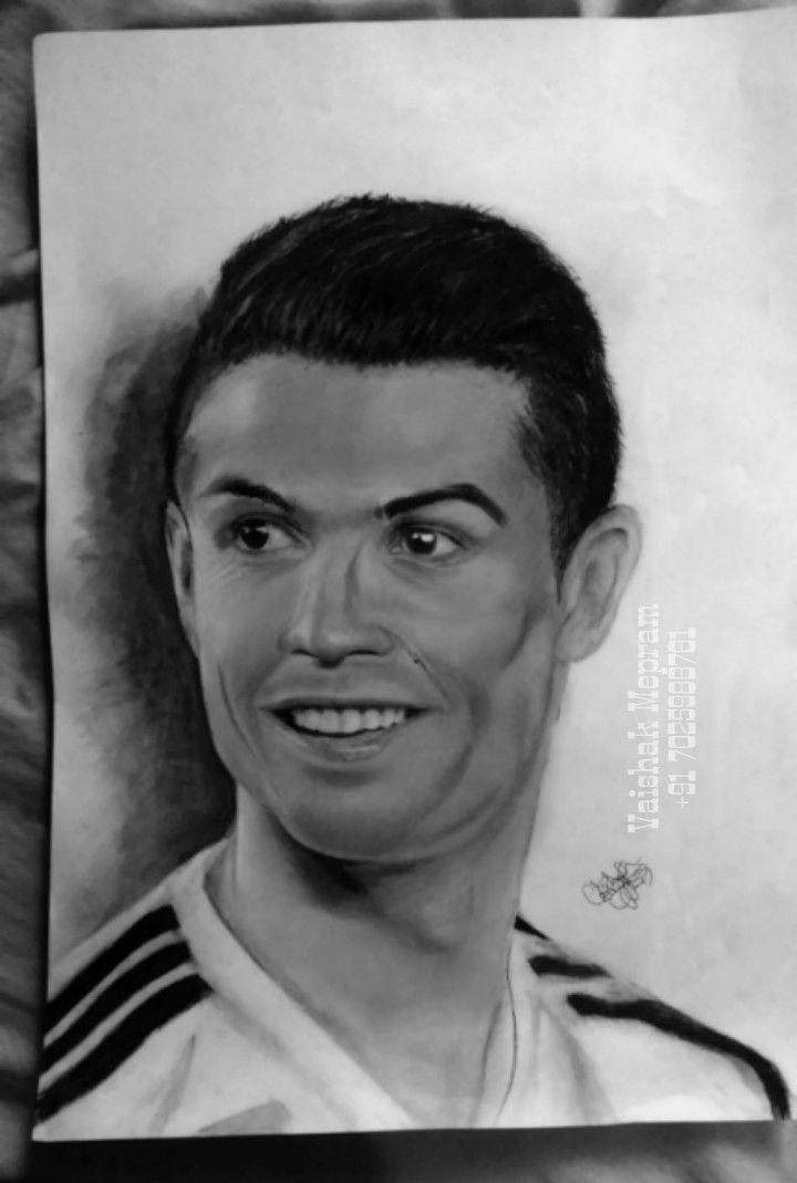 Cristiano Ronaldo Pencil Drawing In 2020 Pencil Drawings Drawings My Drawings
