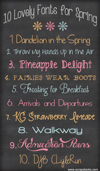 10 Free Fonts for Spring