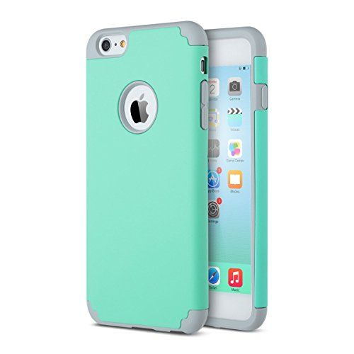 iPhone 6 Case, Lumsing™ Hybrid High Impact Dual Layer Armor Defender Case Protective Cover for Apple iPhone 6 (4.7 inch Screen) with Screen Protector (Mint Green-Grey) - http://topcellulardeals.com/accessories/?product=iphone-6-case-lumsing-hybrid-high-impact-dual-layer-armor-defender-case-protective-cover-for-apple-iphone-6-4-7-inch-screen-with-screen-protector-mint-green-grey Lumsing (TM) has always devoted itself to providing fashion and superior products with the end-us