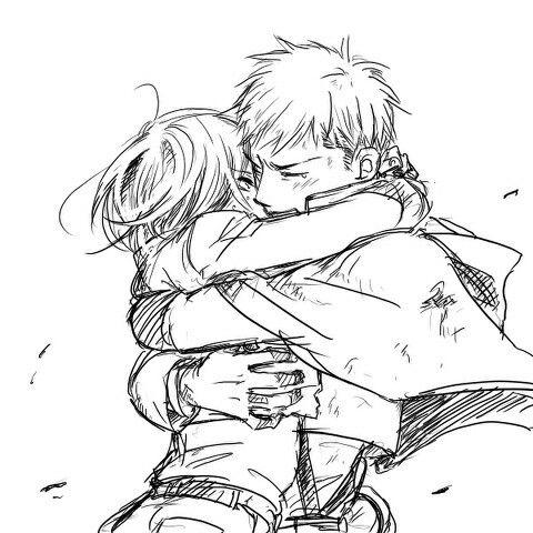 Attack on Titan / Shingeki no Kyojin AoT/SnK | Jean Kirstein/Kirschtein x Mikasa Ackerman JeanKasa/JeanMika | Anime Manga cute couple OTP