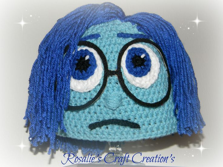 Crochet Hat Inside Out Sadness