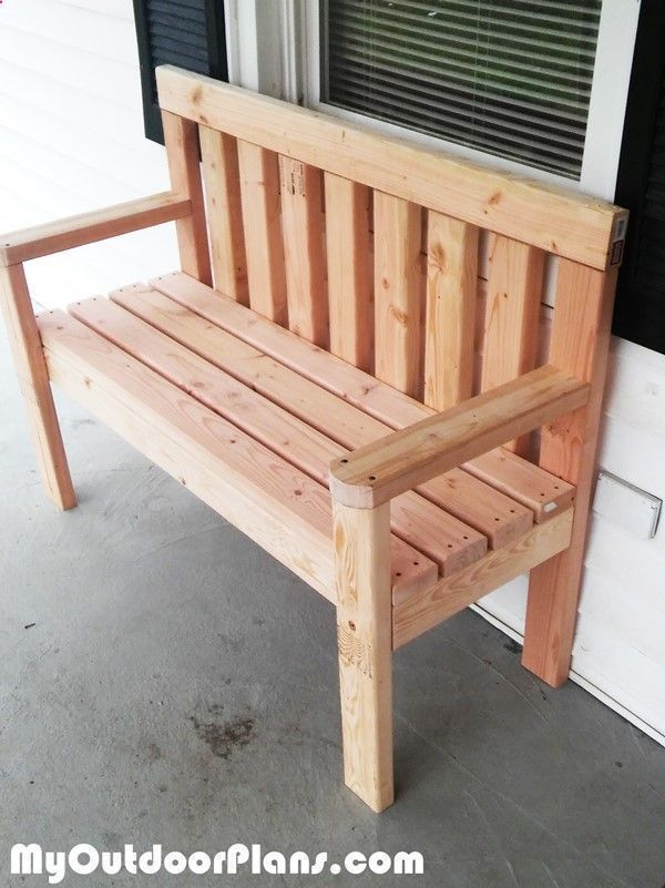 DIY Simple Garden Bench   MyOutdoorPlans   Free Woodworking Plans and Projects, DIY Shed, Wooden Playhouse, Pergola, Bbqhttp://cleverwoodprojects.tumblr.com/?p=431153789546471 #pergolaplansfree #gardenplayhouse